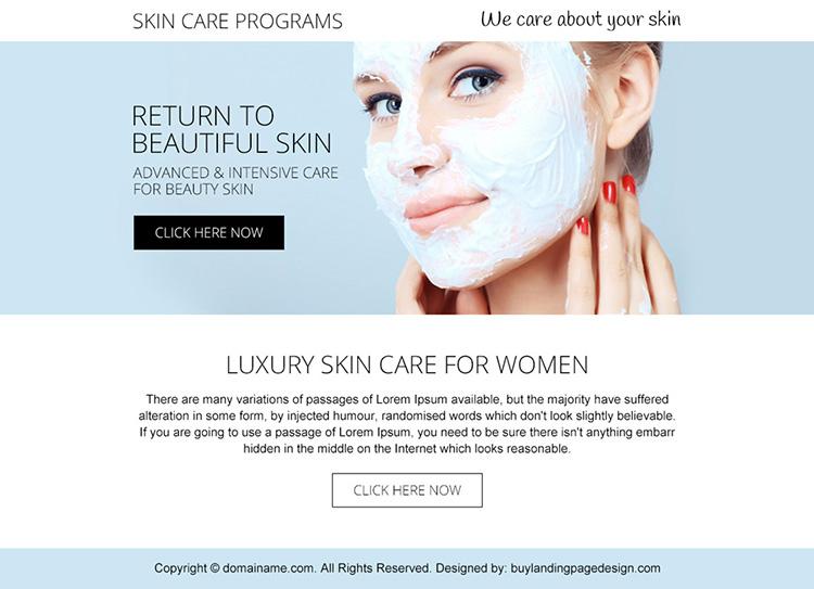 skin care programs PPV design