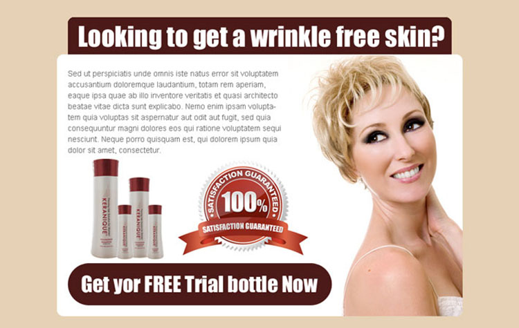 skin care solution clean and attractive ppv landing page design template