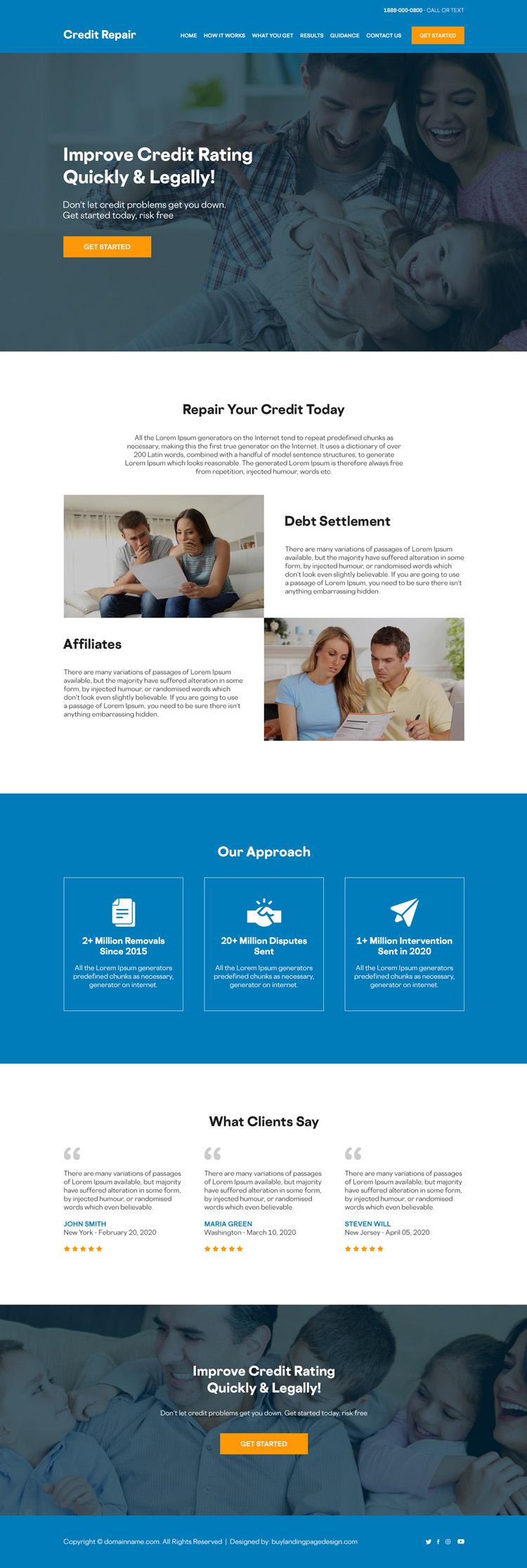 improve credit ratings quality responsive website design