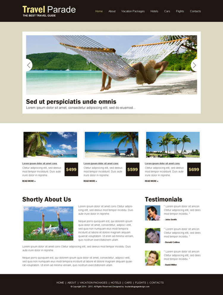 best travel website design psd for your tours and travels business