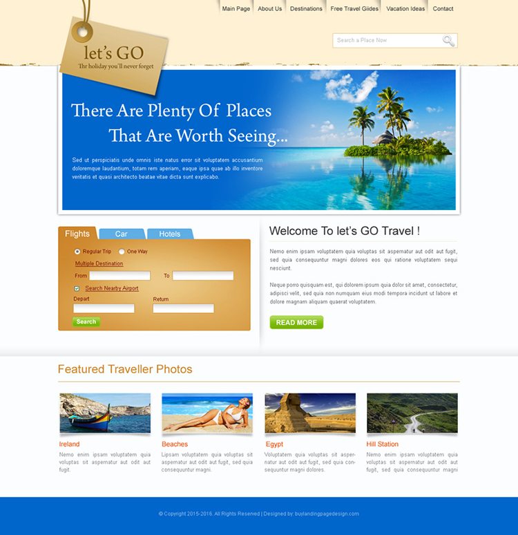 travel website design template psd for sale