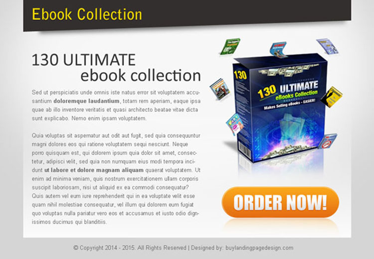 ebook selling effective and converting ppv landing page design template