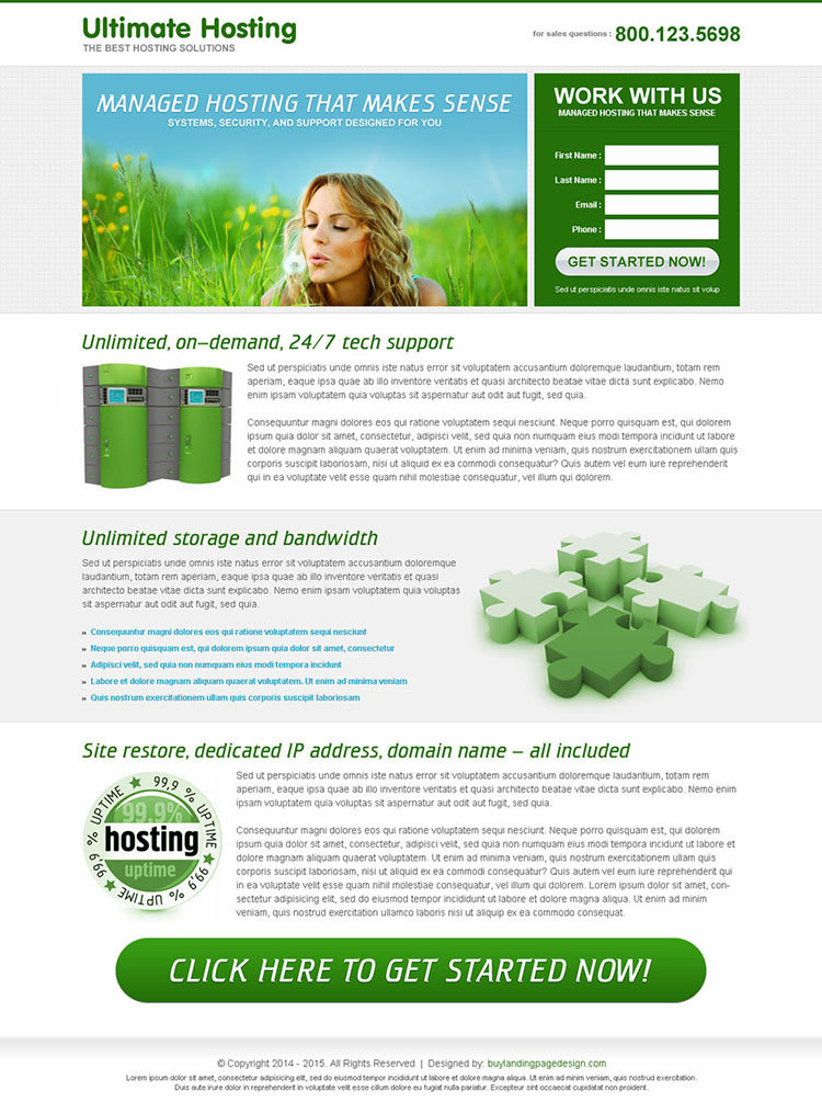 ultimate hosting lead capture landing page to increase your leads and sales