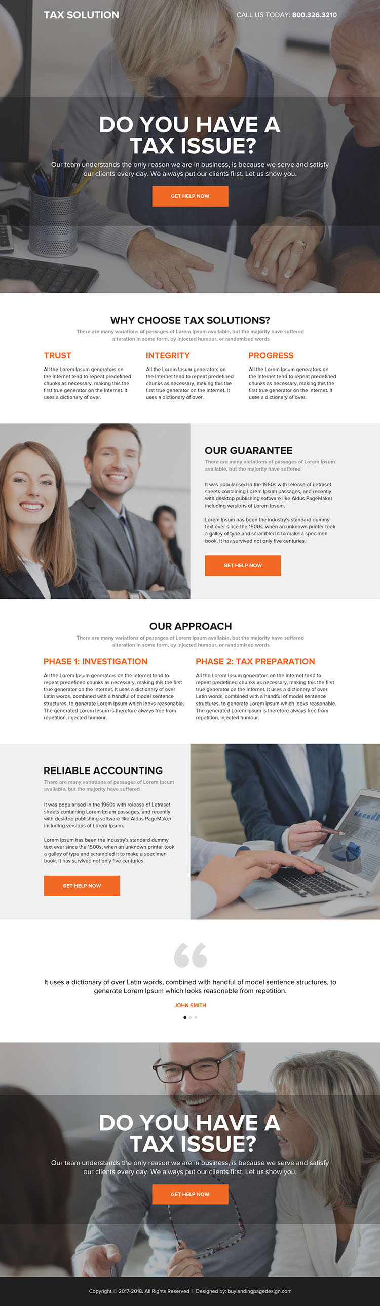 usa income tax solutions professional landing page design