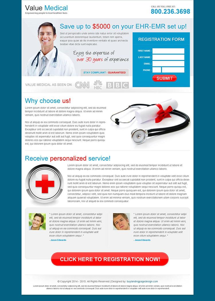 Value Medical Service Landing Page 013 Medical Landing