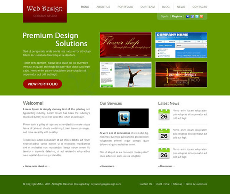 creative appealing and attractive website template design psd for your web design agency