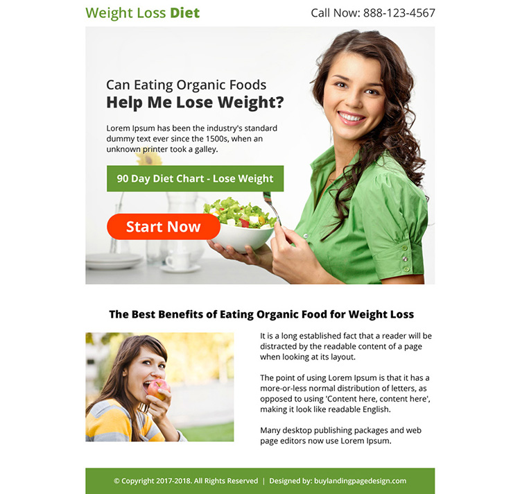 weight loss diet lead capturing strong ppv landing page