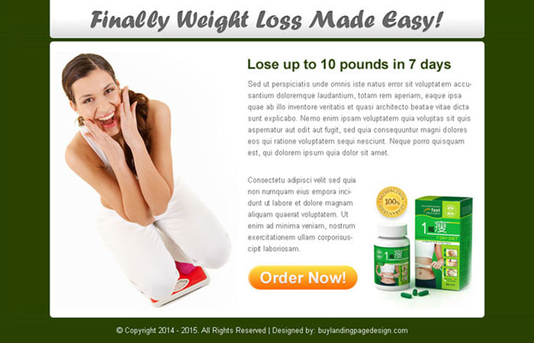 finally weight loss made easy clean ppv landing page design
