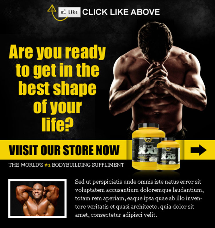 weight loss product appealing and converting html fan page