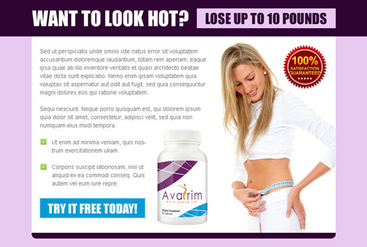 weight loss product to look hot ppv landing page design template