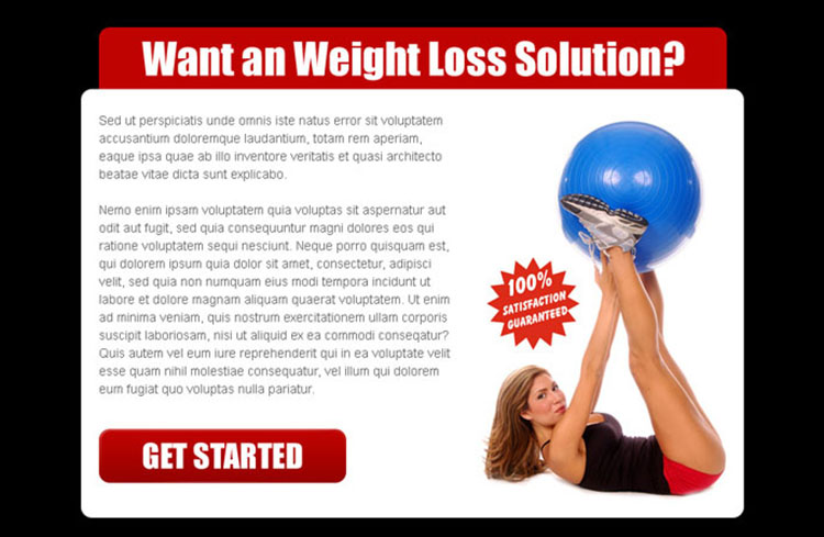 weight loss solution attractive and creative ppv landing page design