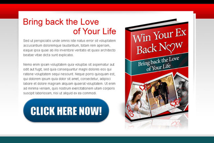 bring back the love of your life ebook ppv html landing page design template