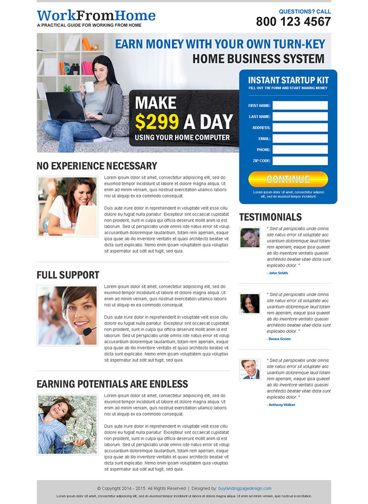 Work From Home Guide Landing Page 015 Work From Home