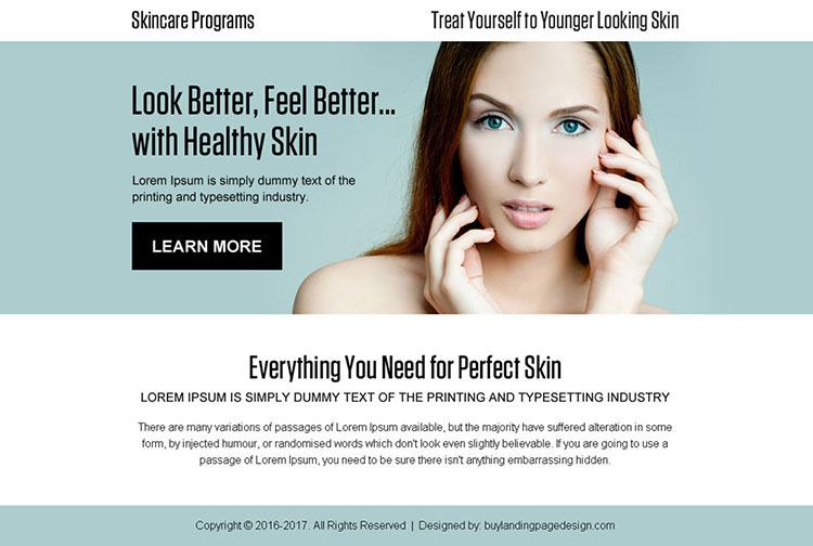 younger looking skin care program best ppv landing page