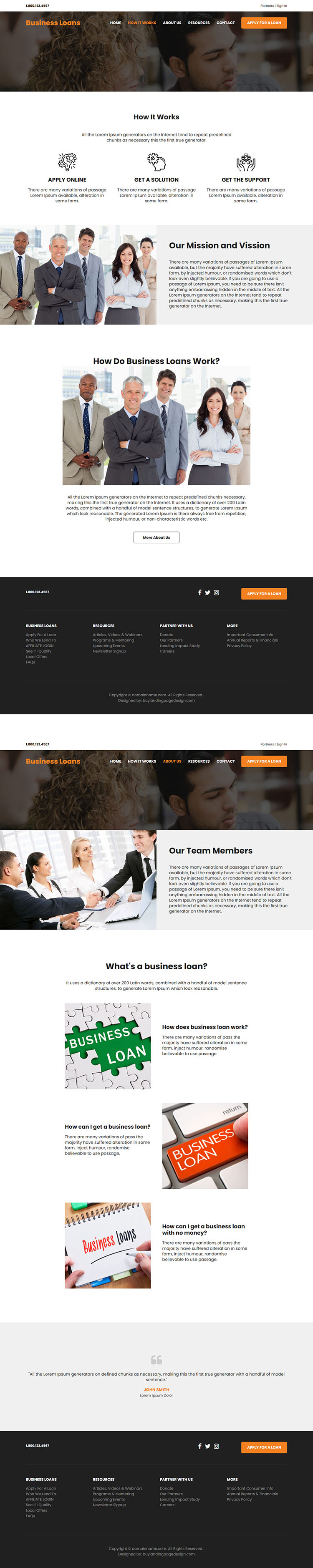 affordable small business loan responsive website design