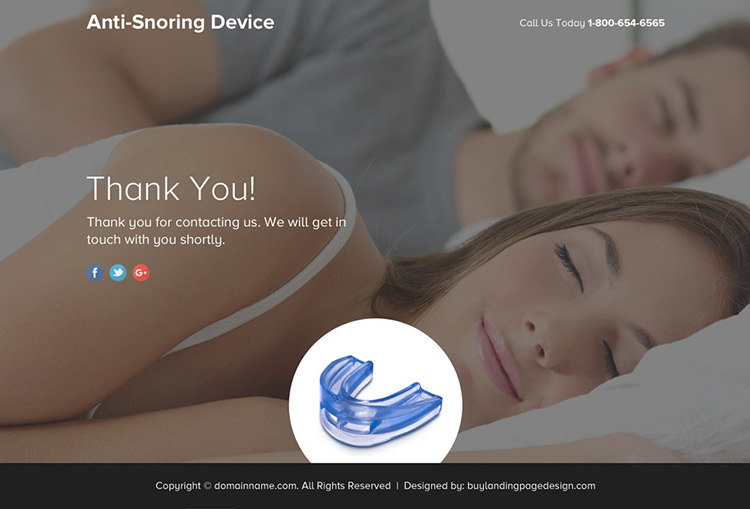 anti snoring device selling responsive funnel landing page