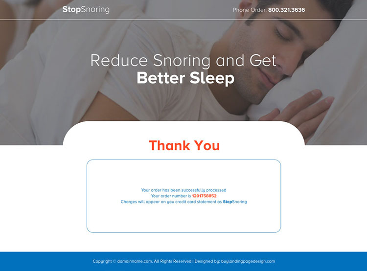 anti snoring mouthpiece selling bootstrap landing page