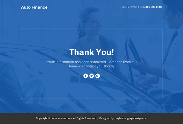 auto finance lead funnel responsive landing page design