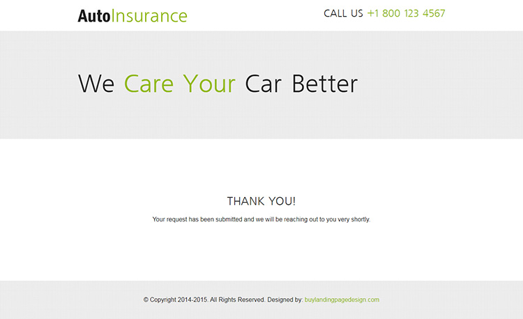 clean creative converting and flat responsive auto insurance lead capture landing page design templates