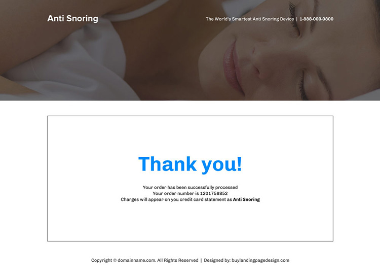 anti snoring mouthpiece responsive landing page