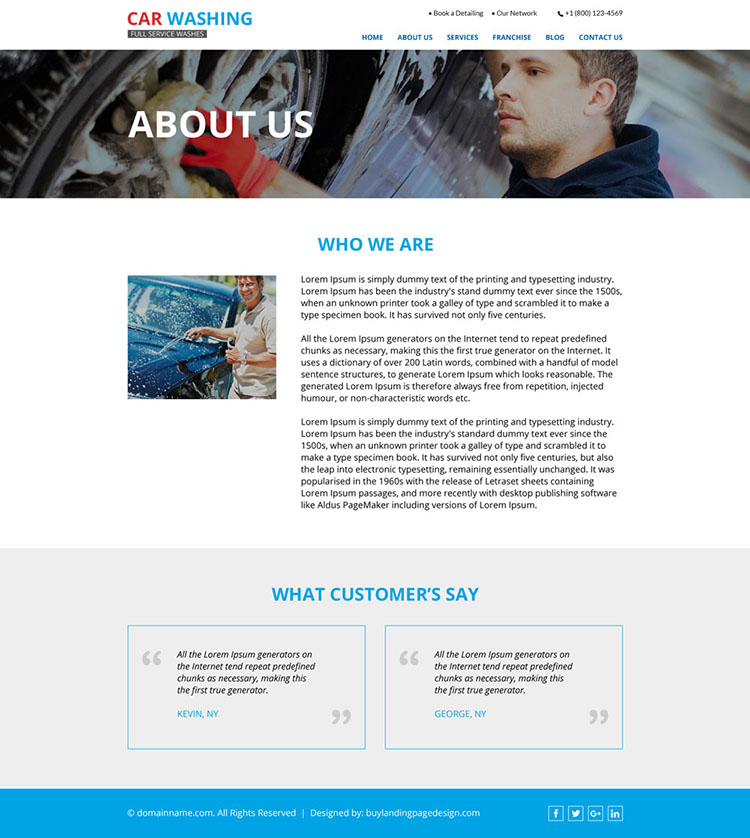 best car washing responsive website design