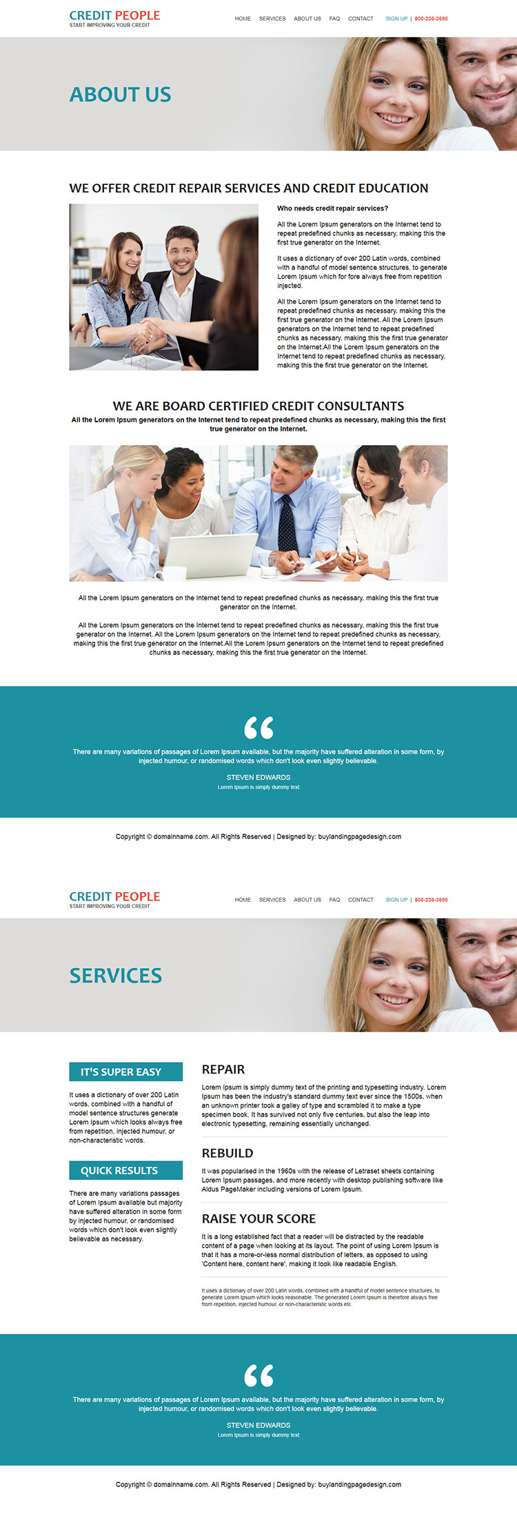 best credit repair companies responsive html website design