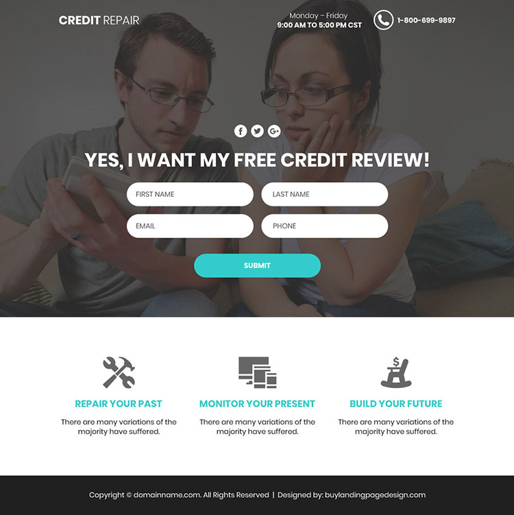 best credit repair video responsive funnel page design