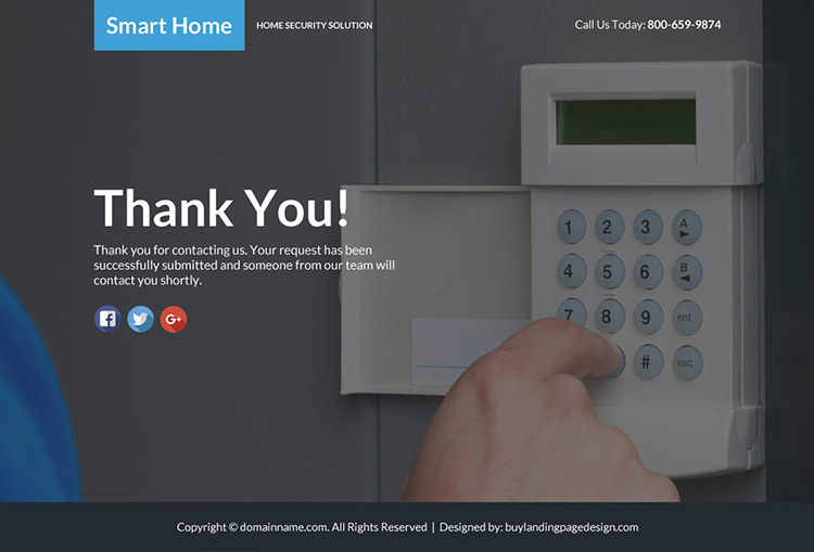best home security lead funnel landing page design