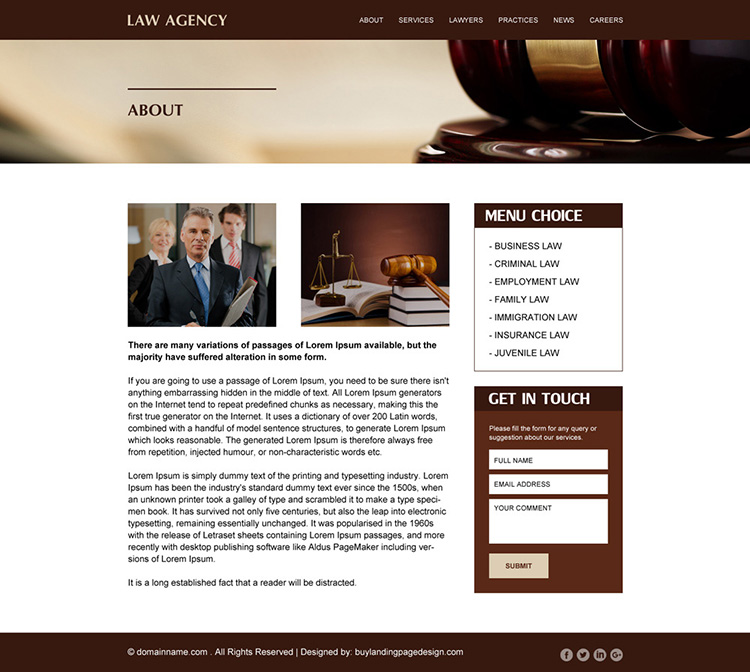 best law agency responsive website design