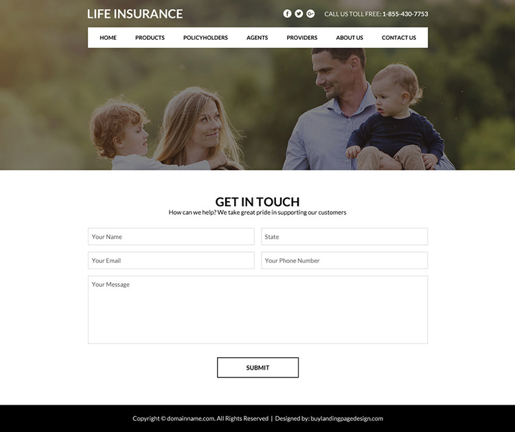best life insurance policy selling website design