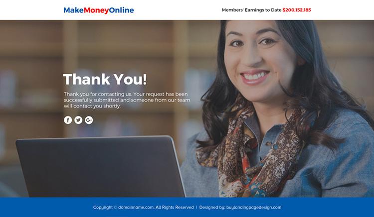 make money online lead funnel landing page design