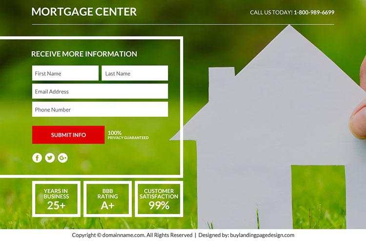 best mortgage marketing sales funnel responsive landing page design