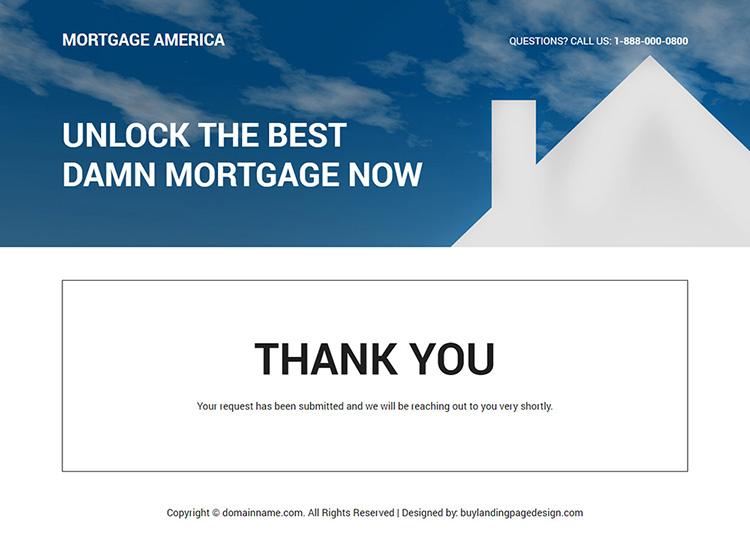 mortgage broker responsive landing page design