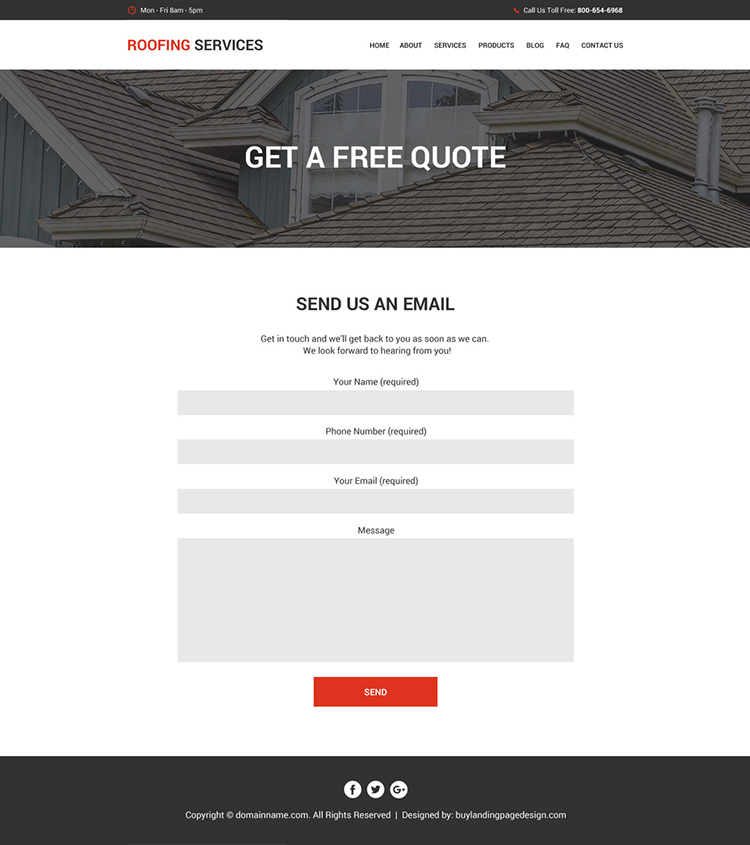 best roofing services responsive website design