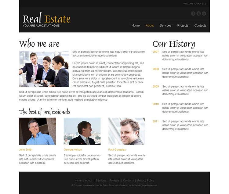 best real estate listing responsive website design