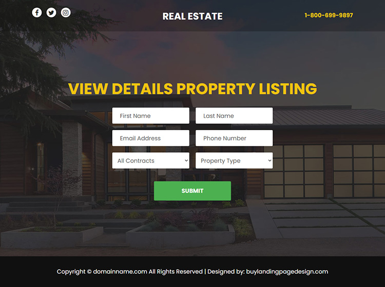 best real estate responsive video funnel design