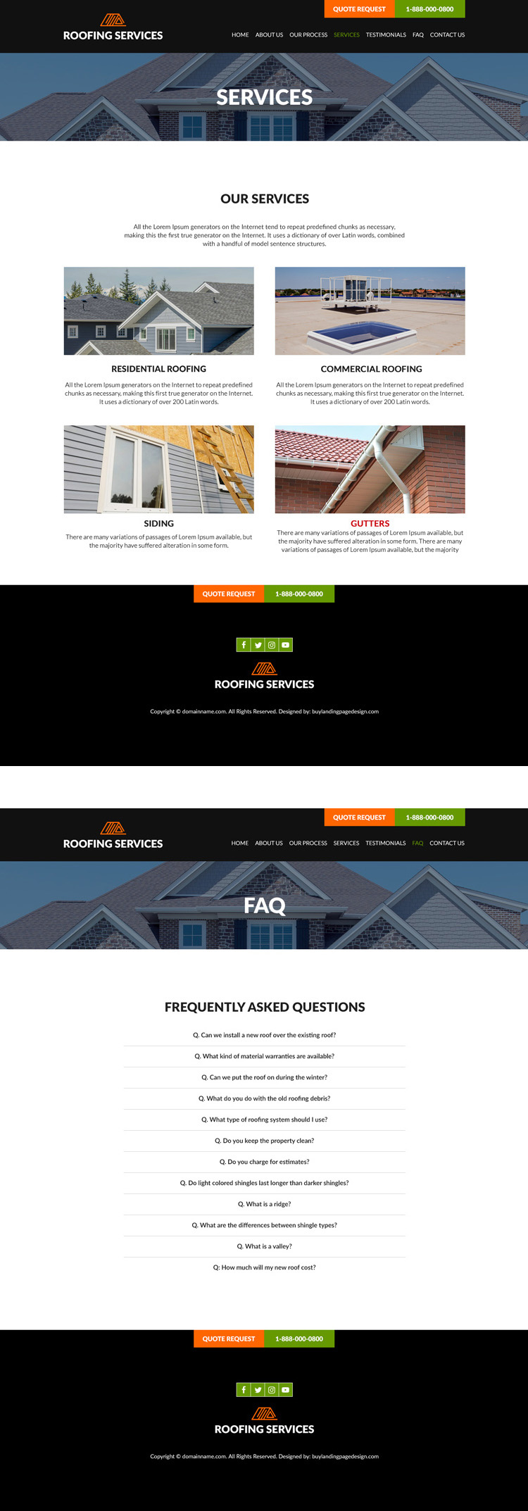 best commercial and residential roofing website design