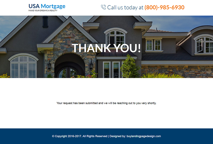 responsive best bank mortgage lead capturing landing page
