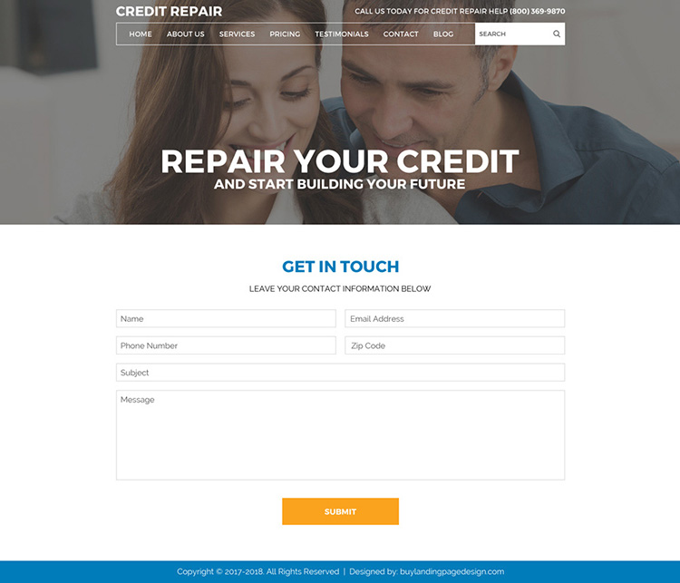 repair your credit and start building your future professional website design