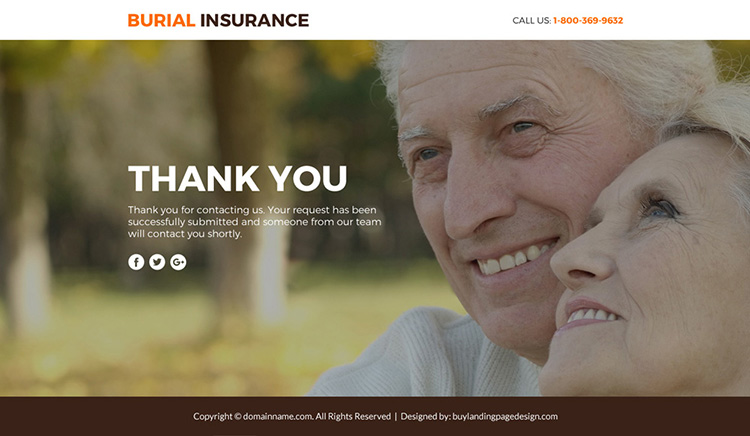 burial insurance plans lead funnel responsive landing page