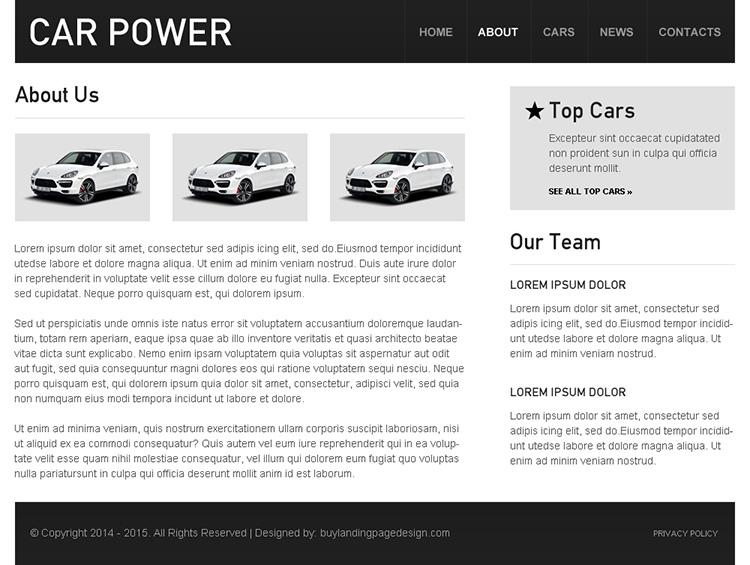 car dealer clean and converting html website template design