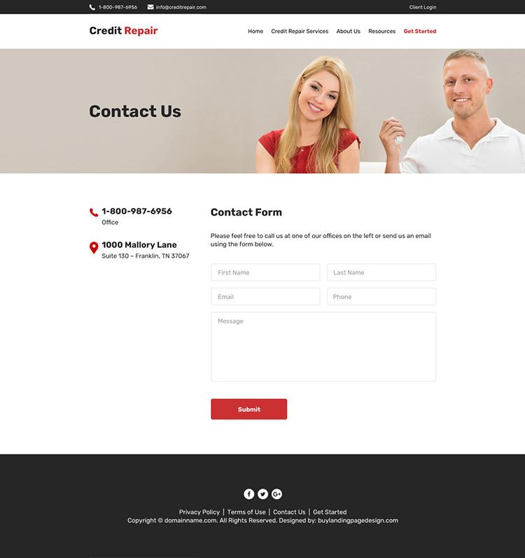 credit repair companies professional website design