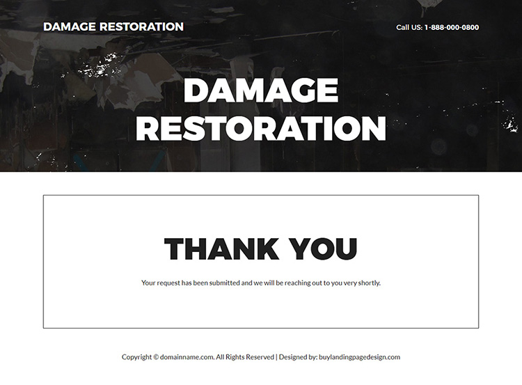 property restoration and repair experts landing page