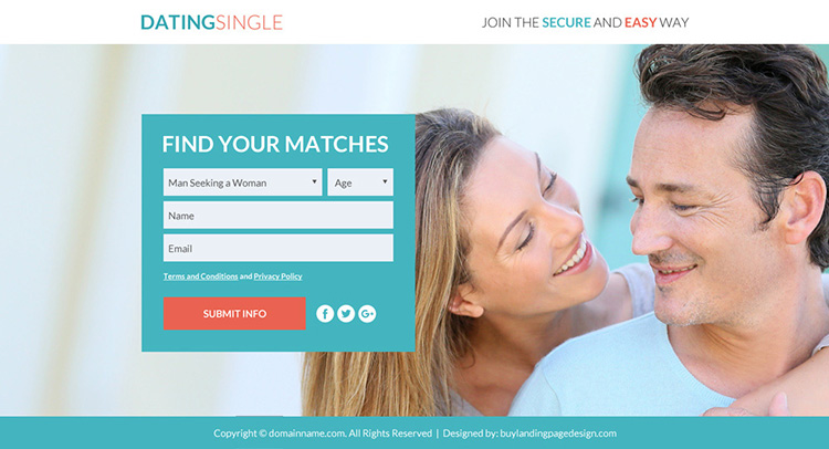 dating membership sign up capturing lead funnel landing page