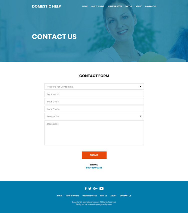domestic helpers service responsive website design