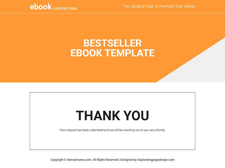 eBook selling lead capture responsive landing page design