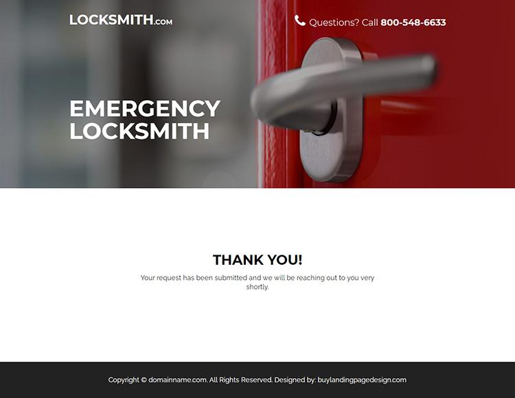 emergency locksmith service bootstrap landing page