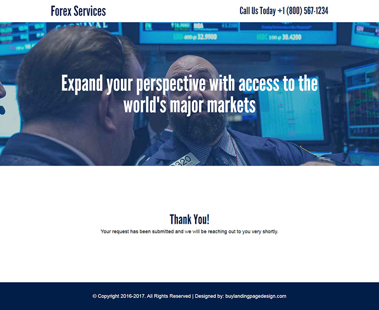 forex market access sign up capturing responsive landing page