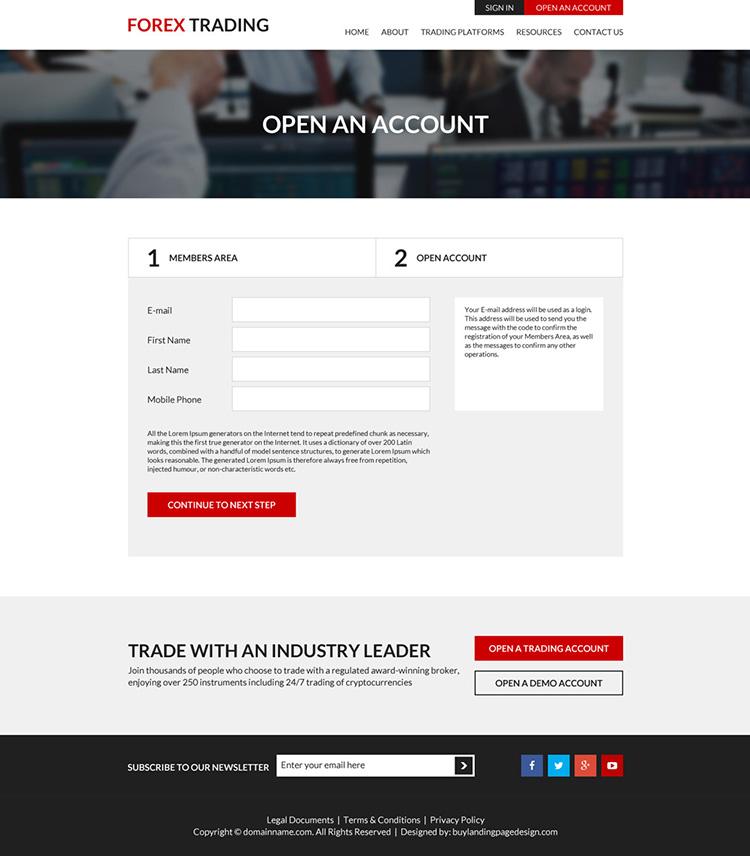 appealing forex trading platform responsive website design