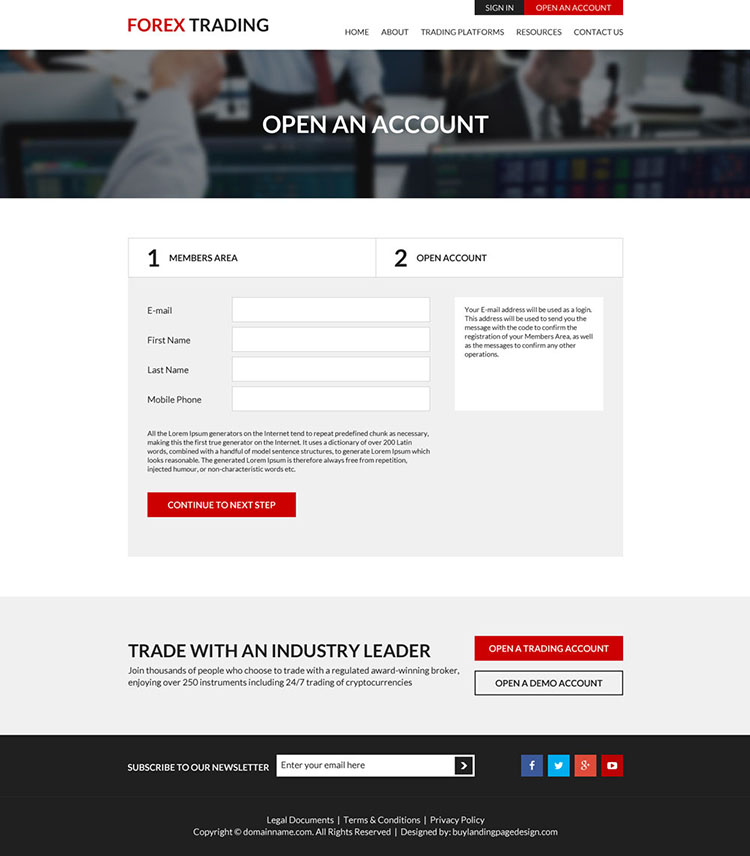 Free forex trading website templates